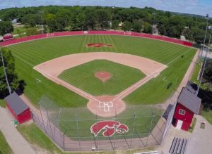 Top view of Mercer Park Field in Iowa City